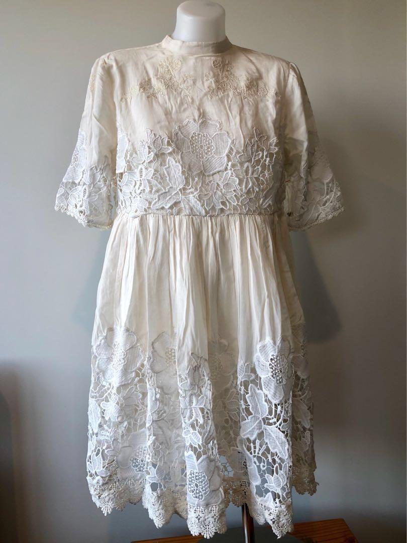 Free People (Brand New) Amelie Mini Dress in Cream. RRP $168