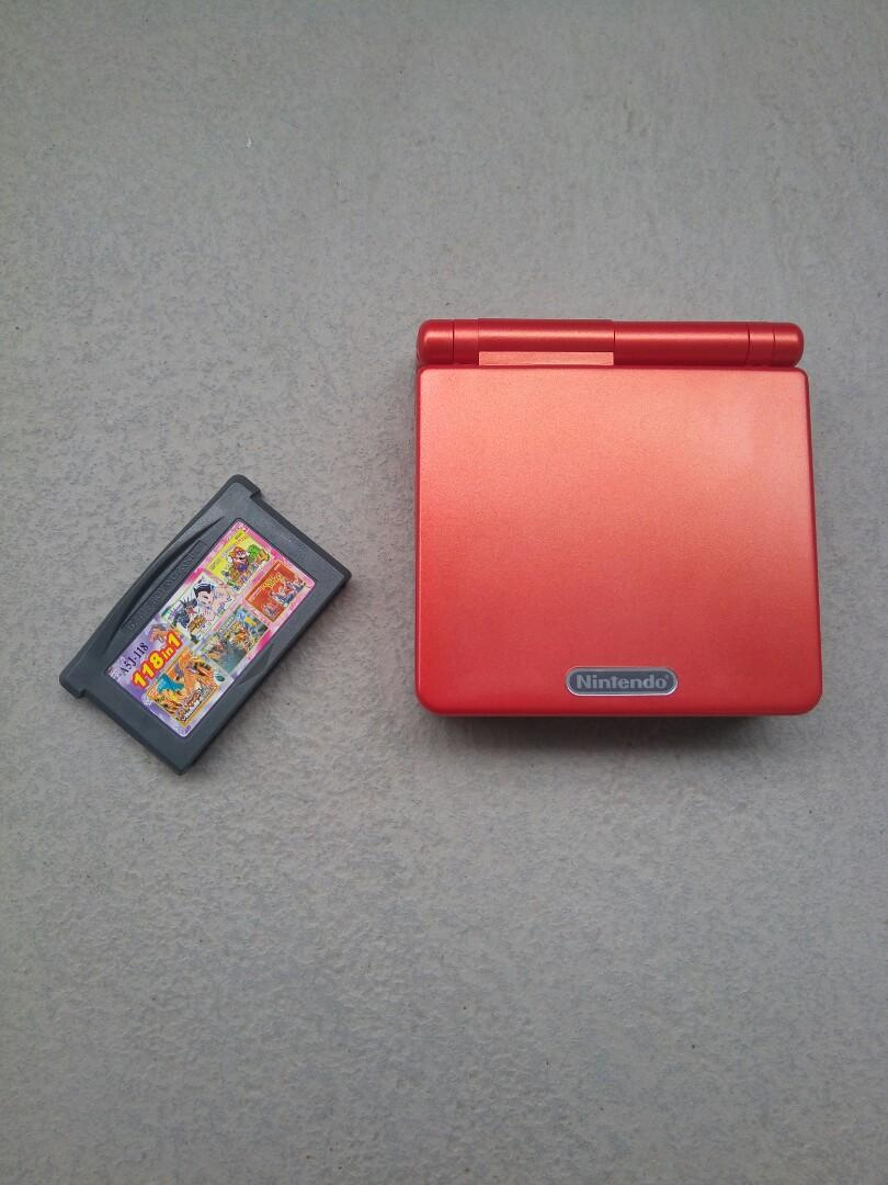 Gameboy GBA sp flame red 遊戲機