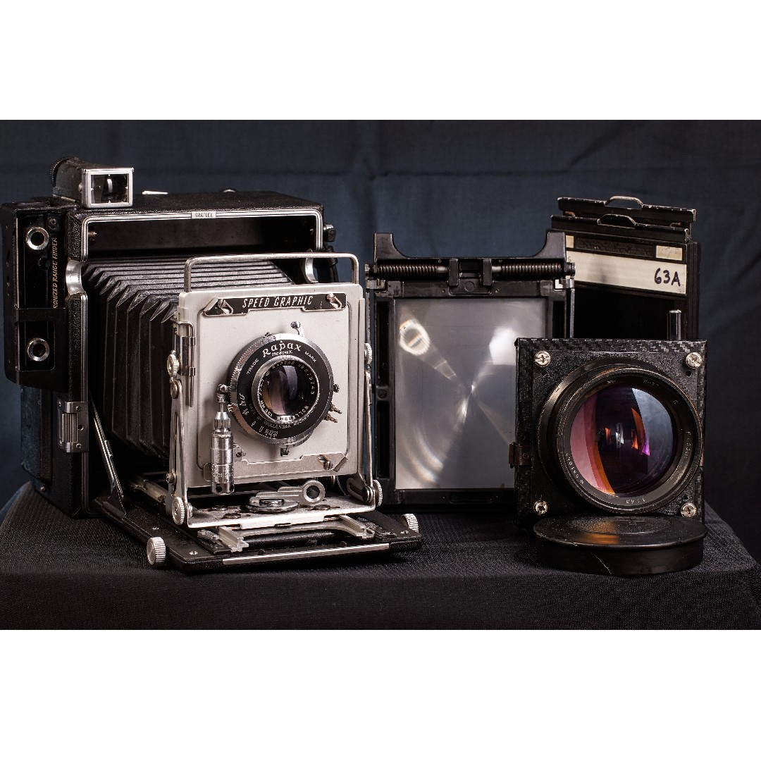Graflex Speed Graphic 4x5 With Wollensak Raptar 135mm f/4 7 Lens and  Industar-37 300mm F4 5 Large Format Lens
