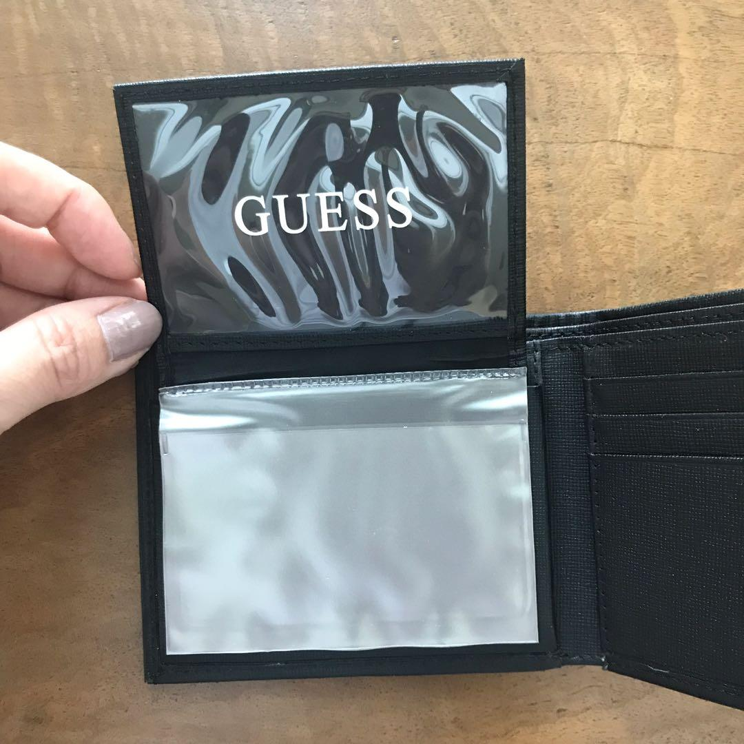 GUESS men wallet genuine leather hitam