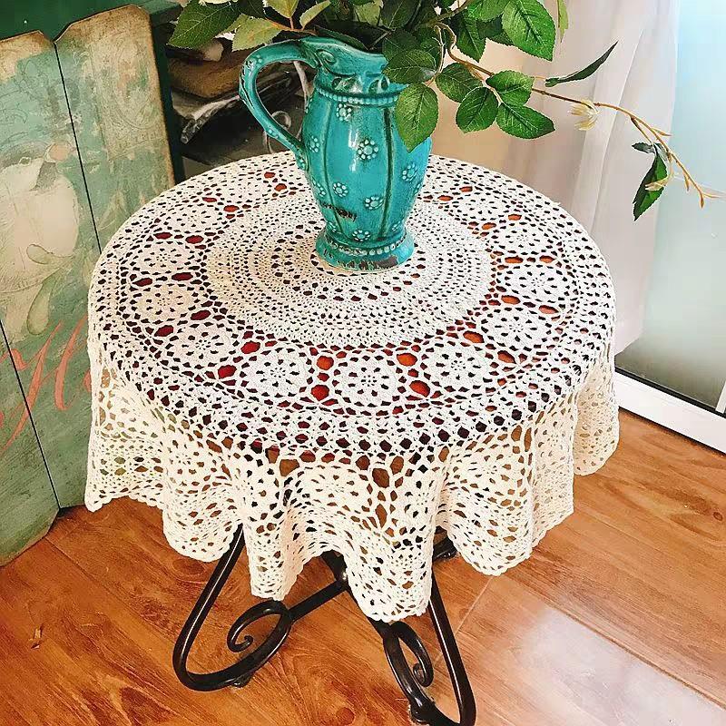 Handmade Round Crochet Table Cloth
