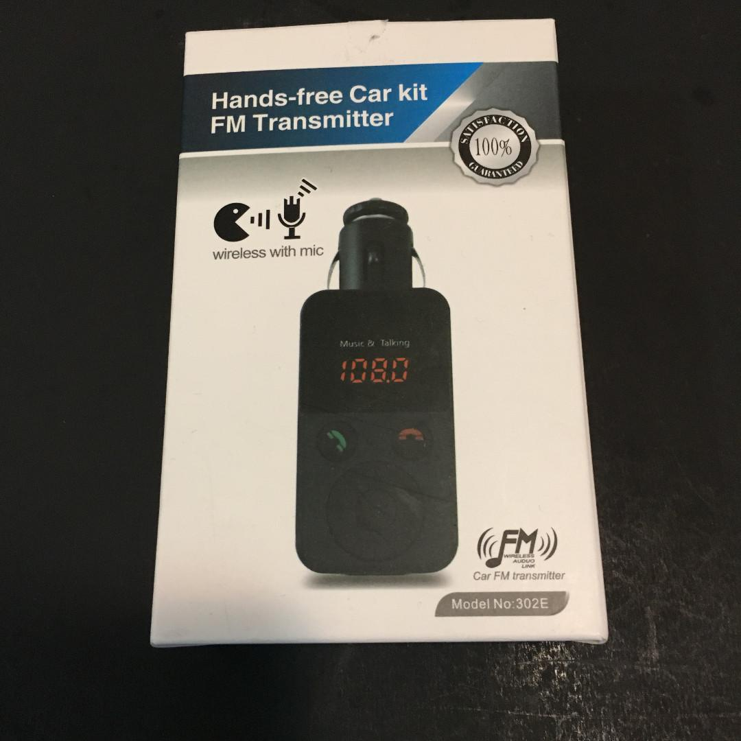 Hands-Free Bluetooth Car Kit FM Transmitter with Remote Control