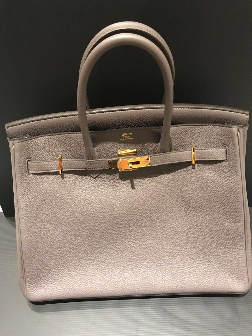 a304b1b11e Hermes birkin 35 etain togo ghw, Luxury, Bags & Wallets, Handbags on ...