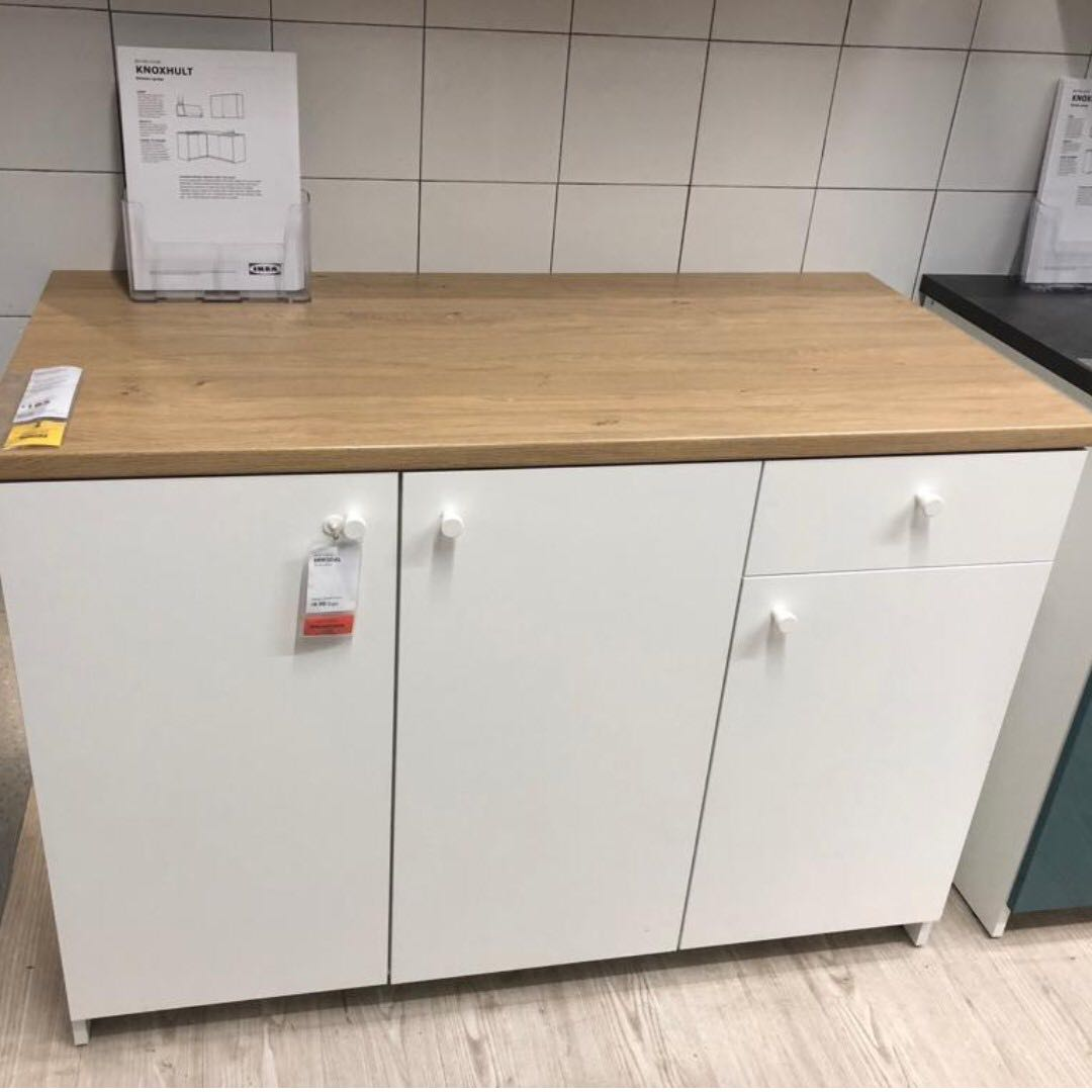 Ikea Kitchen Cabinet With Doors And Drawer White Knoxhult Furniture Shelves Drawers On Carousell