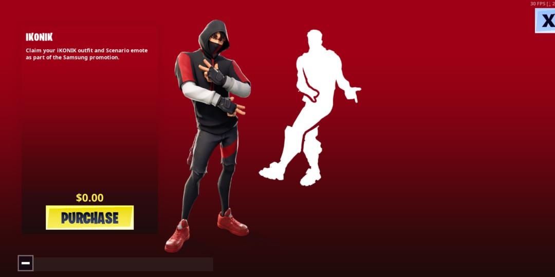 Fortnite Scenario Emote Robloxid Ikonic Skin Video Gaming Gaming Accessories Game Gift Cards Accounts On Carousell