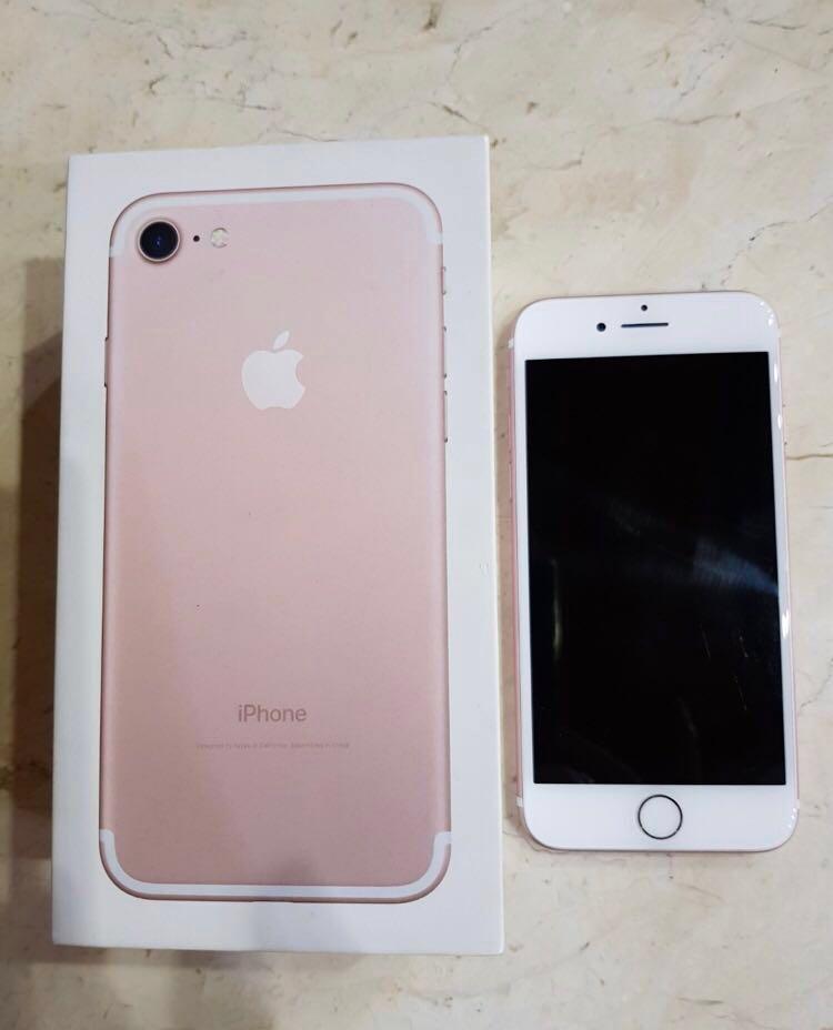 iPhone 7 Rosegold ex resmi intern
