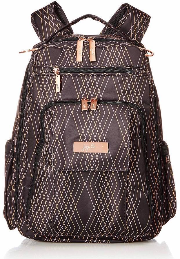 e2bb297357cf JuJuBe Be Right Back Multi-Funtional Structured Backpack/Diaper Bag, Rose  Collection Prism Rose