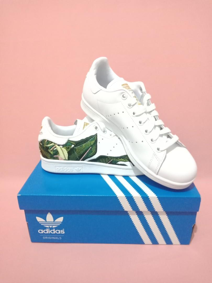 sports shoes ad46e 60cae Limited Edition!] Tropical Embroidered Adidas Stan Smith ...