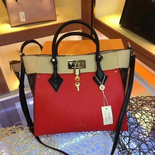 c834417f5 Louis Vuitton LV On My Side Tote Bag with Sling on Carousell