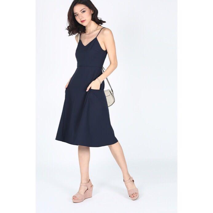 [Love, Bonito] Reselda Dress In Navy