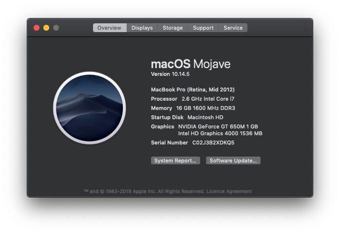 """Macbook Pro 15"""" (Retina Mid 2012) i7/16GB/500GB"""