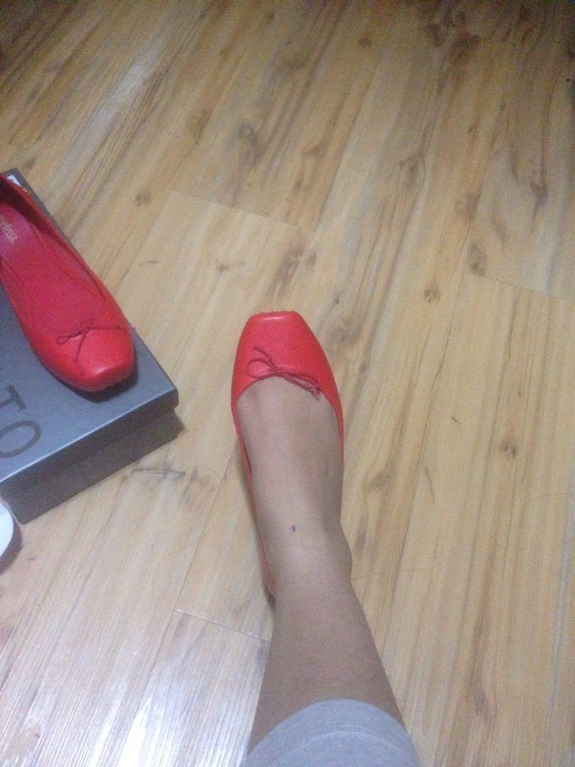 Melissa red flats