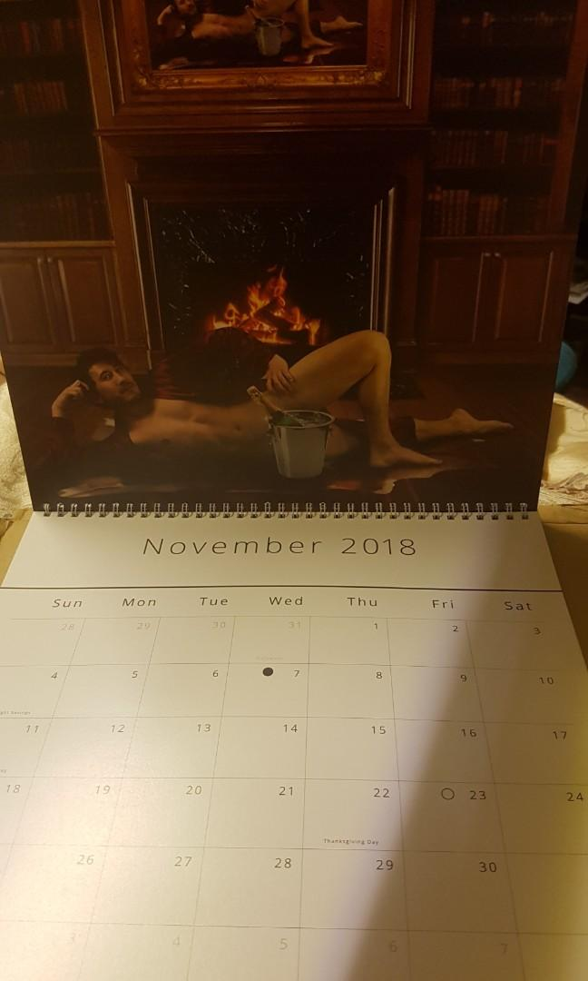 Mint condition Markiplier's limited edition 'tasteful nudes' calender.