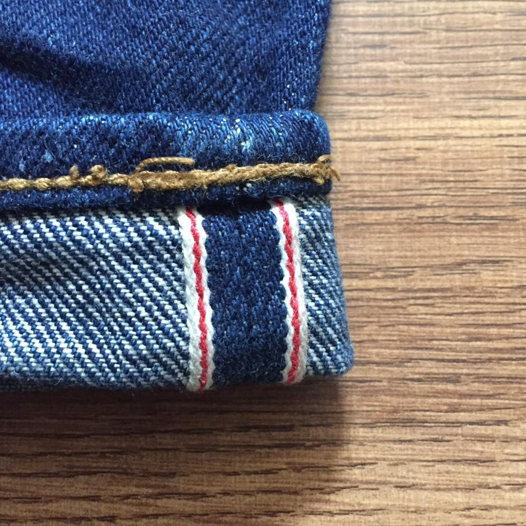Mischief denim selvedge iron label