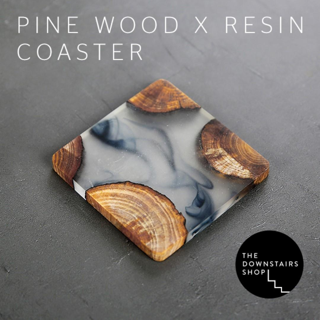⚡️Osk Pine x Resin Coasters with Ink Swirls