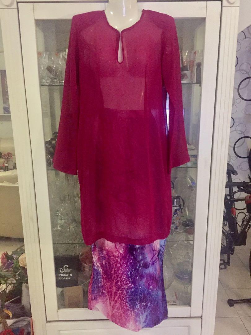 Pink Baju Kurung Moden