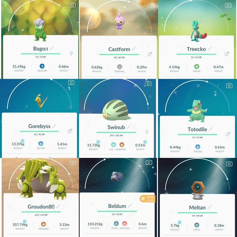 Pokemon go shiny 閃