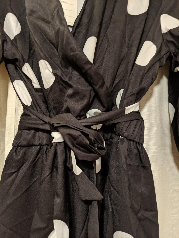 Polka Dot Maxi Dress (Mid sleeve)