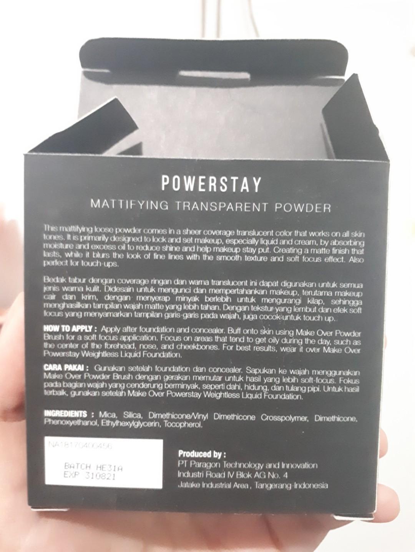 Powerstay Make Over Mattifying Transparent Powder