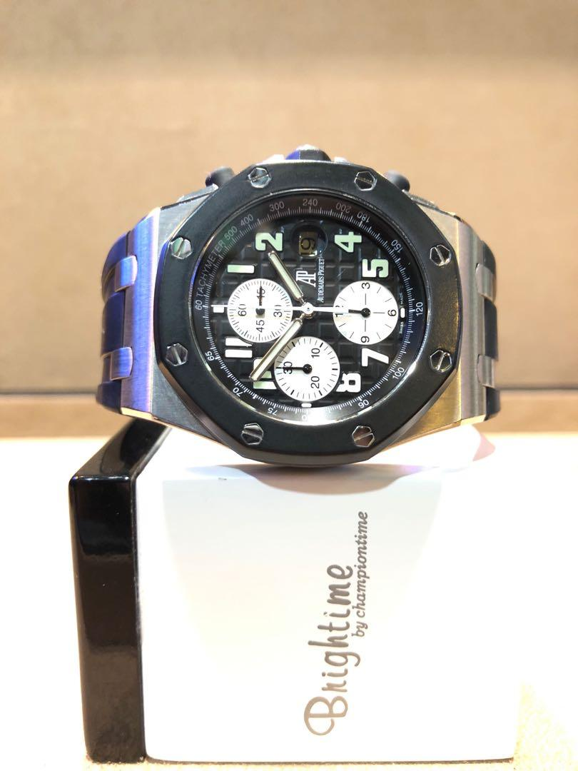 "Pre Owned Audemars Piguet Royal Oak Offshore 25940SK ""Rubberclad"" Black Dial Automatic Steel Casing Rubber"