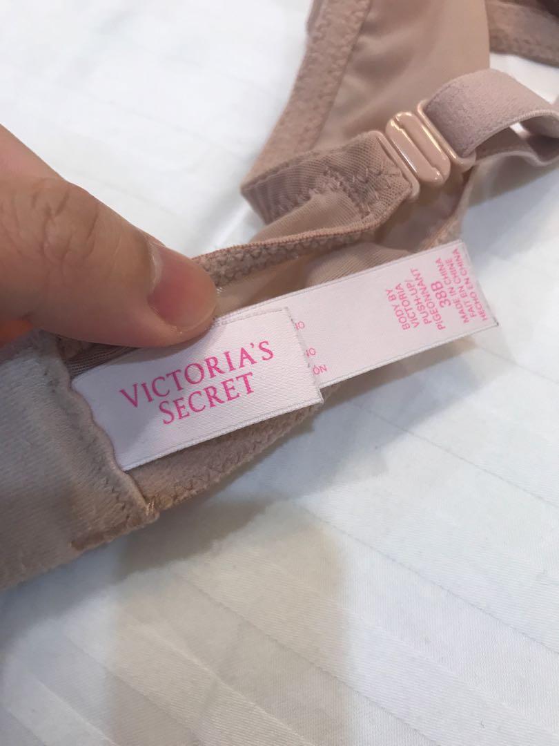 Preloved Victoria's Secret Blush Lace Push-Up Bra 38B