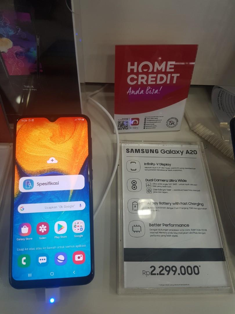 Samsung Galaxy A20 cicilan Tanpa Cc free 2x angsuran