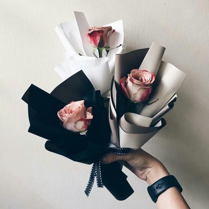 Cappuccino Rose Single Stalk Bouquet