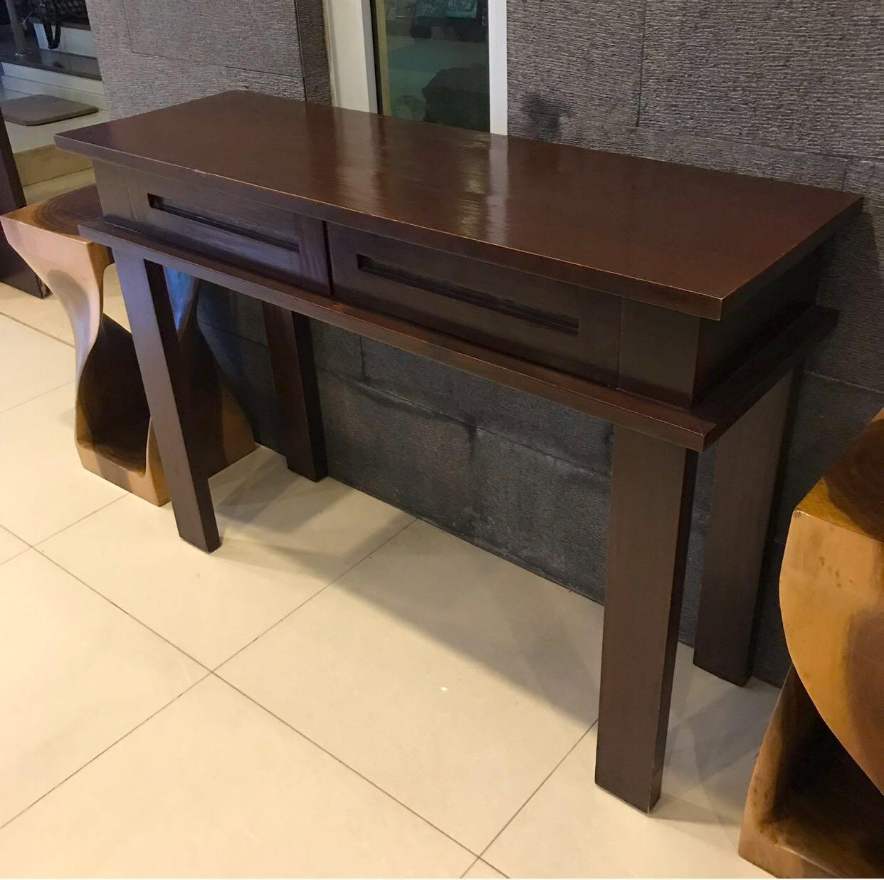 Picture of: Solid Teak Console Table Vintage Collectibles Vintage Collectibles On Carousell
