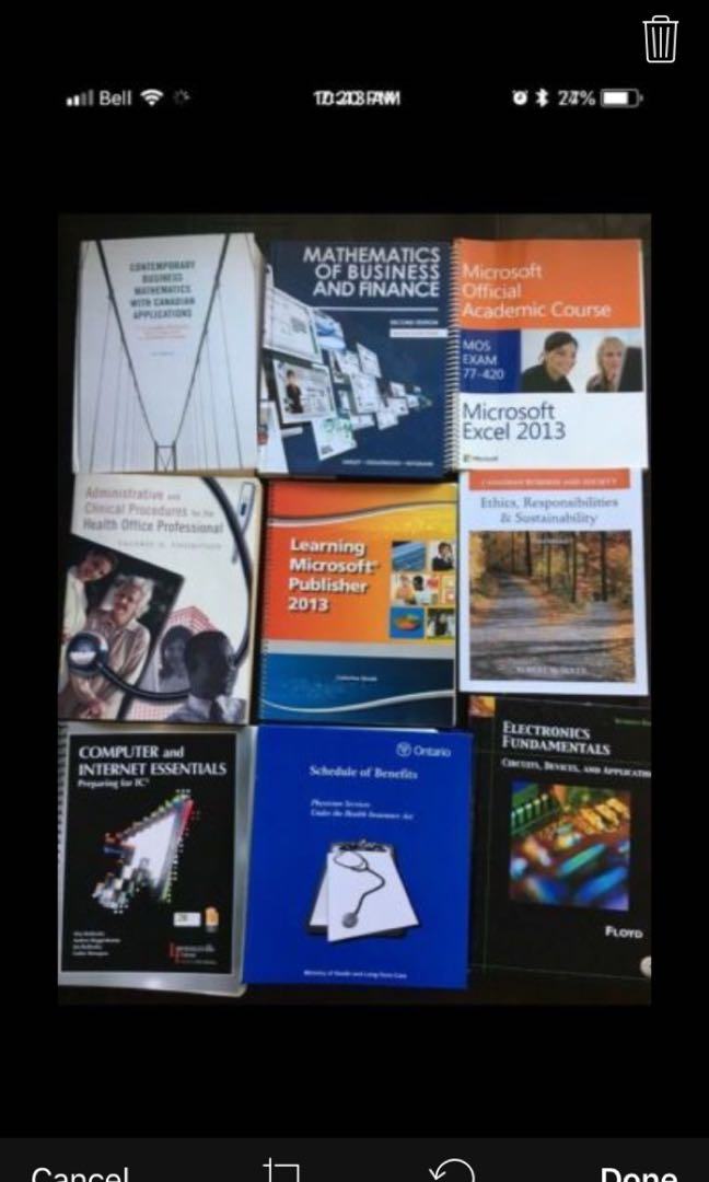 Textbooks and Reading Books!!