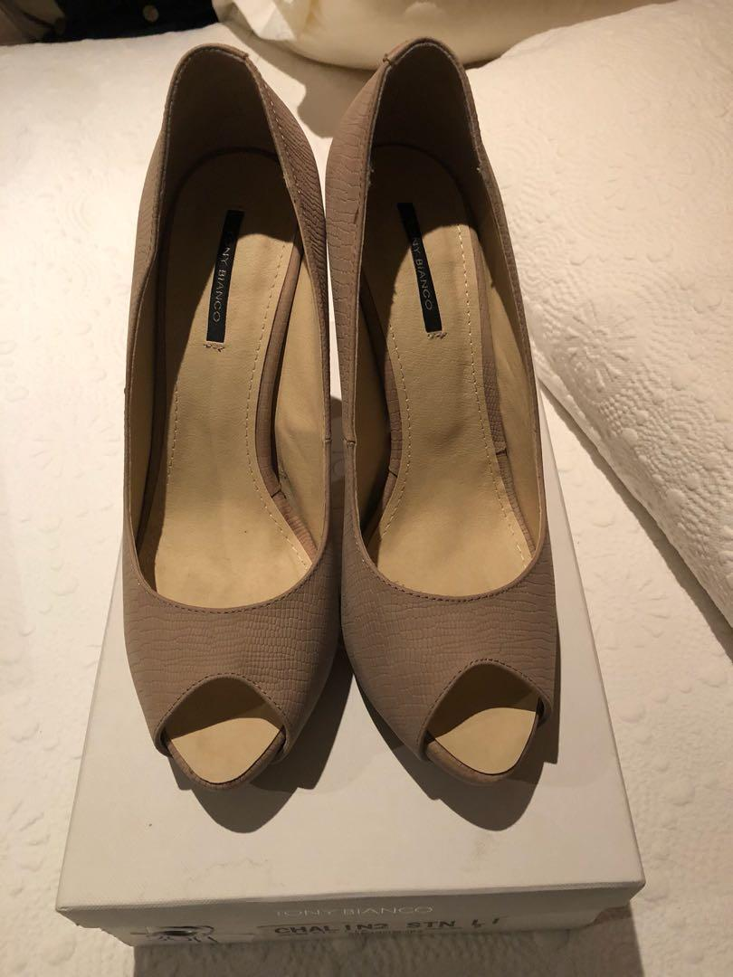 Tony bianco nude heels 9