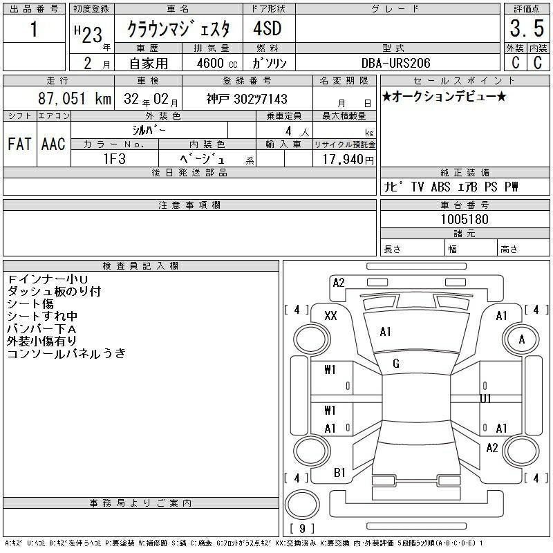 TOYOTA crown 2011(價錢面議)