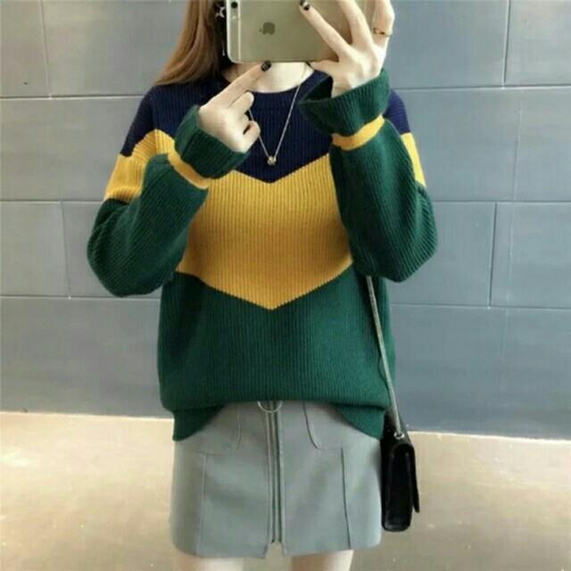triangle sweater