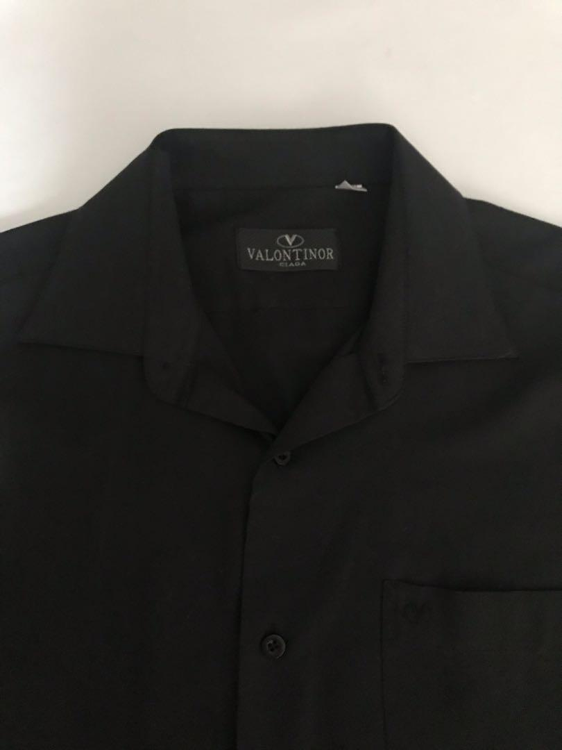 Valontinor Ciaga Classic Black Easy Iron Shirt #mauvivo
