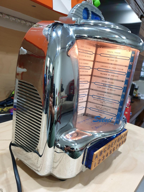 Vintage + Retro Chrome Jukebox