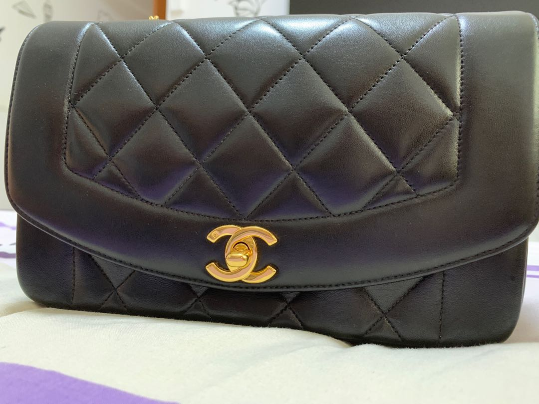 "1eb6cee8a87b Vintage Chanel Diana Flap 9"", Luxury, Bags & Wallets, Handbags on Carousell"