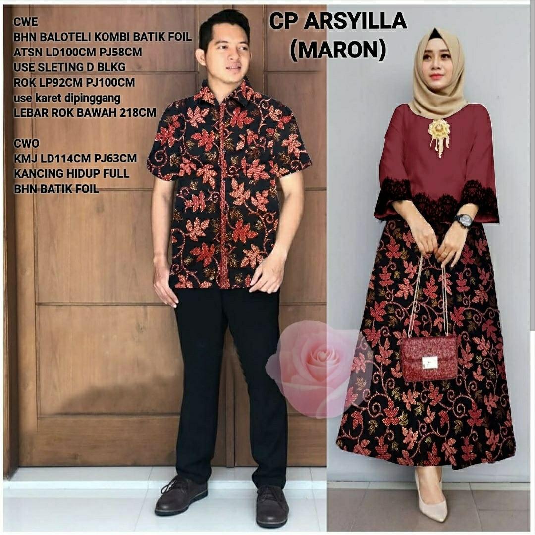 Vs Cp Arsyilla Benhur L Atasan Fashion Baju Muslim Gamis Batik Couple Gamis Cp Wanita Fesyen Wanita Muslim Fashion Gaun Di Carousell