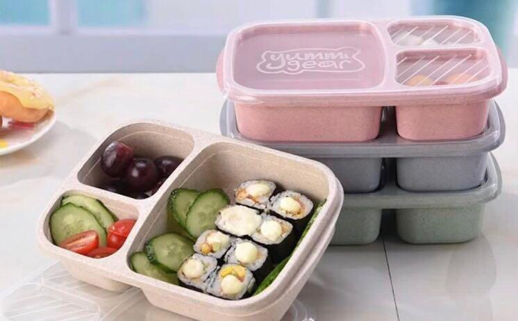 Wheat straw eco bento lunch box
