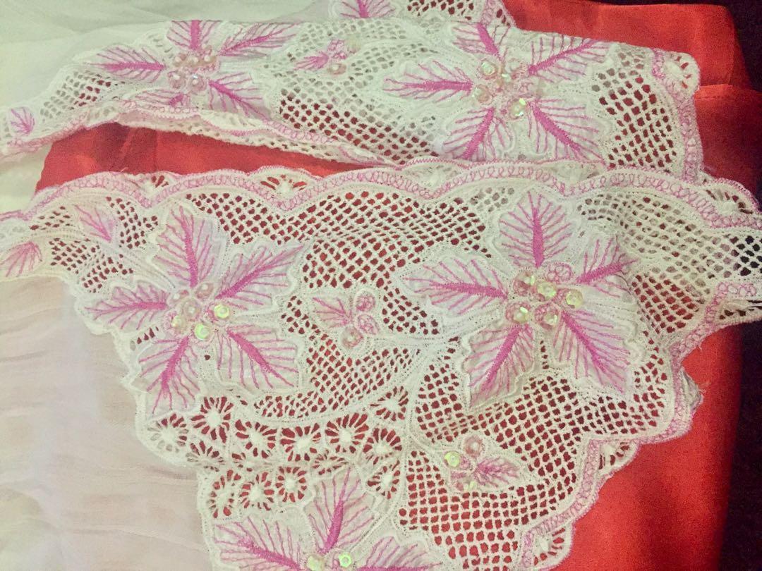 White and Pinkish Kebaya