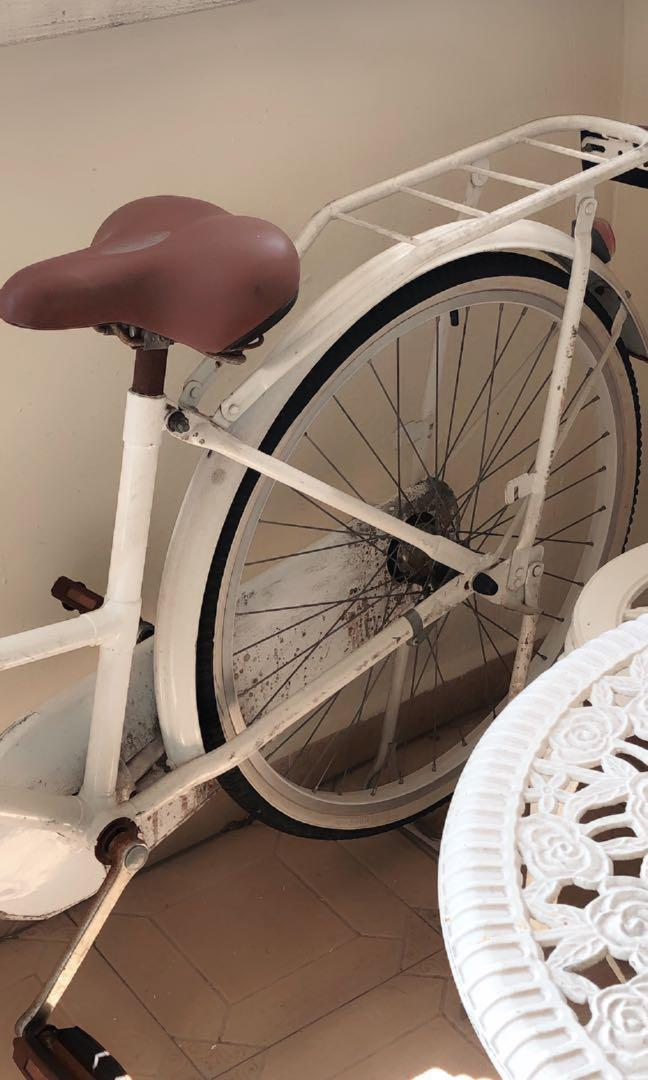 White Vintage Bicycle