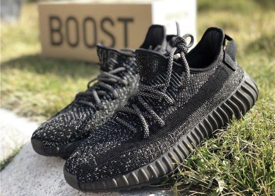 yeezy boost 350v2 black reflective