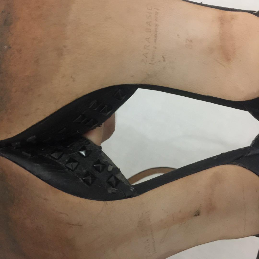 Zara Studded Kitten Heels