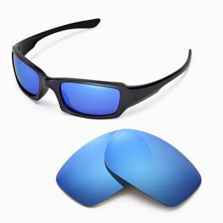 Fives Squared Ice Blue POLARIZED Walleva Replacement Lenses for Oakley Fives Squared Sunglasses