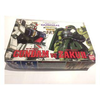 Bandai HG The 08th MS Team 1/144 Rx-79 Gundam VS Ms-06 Zaku II 052672 1996年版