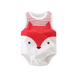 🚚 ✨INSTOCK Sleeveless Fox Baby Romper✨