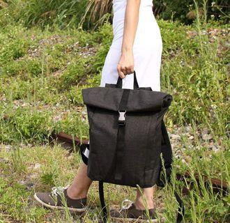 Black backpack (laptop bag/adjustable bag)