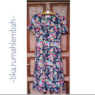 #ramadansale Flower Dress Dark Blue #mauvivo