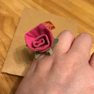 手造玫瑰布介指 ~ 適合女朋友小禮物