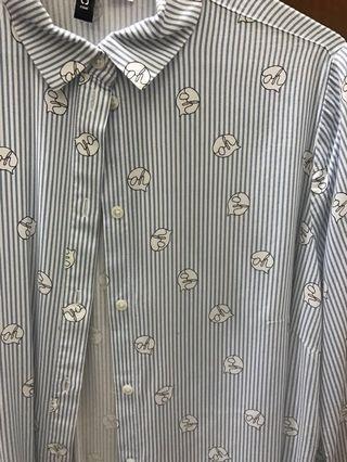 H&M條紋襯衫