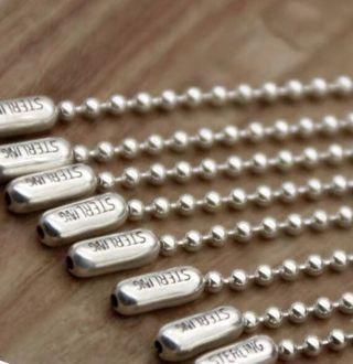 40cm價錢)銀珠鏈項鍊925純銀男女配飾品2.4mm圓珠鏈長款毛衣鏈潮人學生