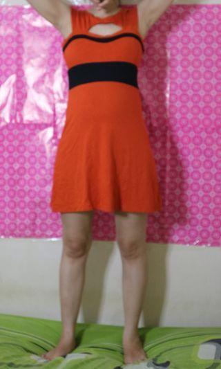 Orange dress uk.s